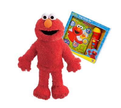 Elmo Puppet, Book, Sing -A -Long