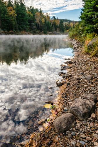 Sky And Pebbles, Lake Opeongo, Algonquin Park, Ontario, Canada