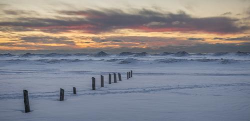Winter Sunset, Sauble Beach, Ontario, Canada