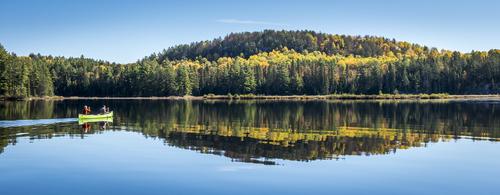 Paddling, Lake Opeongo, Algonquin Park, Ontario, Canada