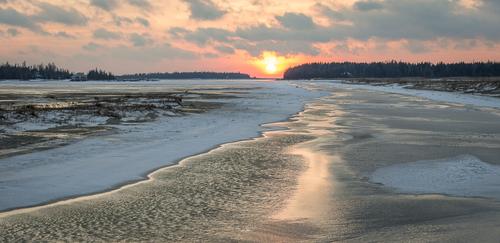 Winter Sunset, Oliphant, Ontario, Canada