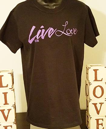 Live Love T-shirt - Black livelove-black