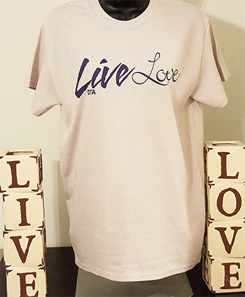 Live Love T-shirt - Tan livelove-tan