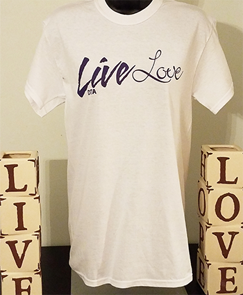Live Love T-shirt - White livelove-white