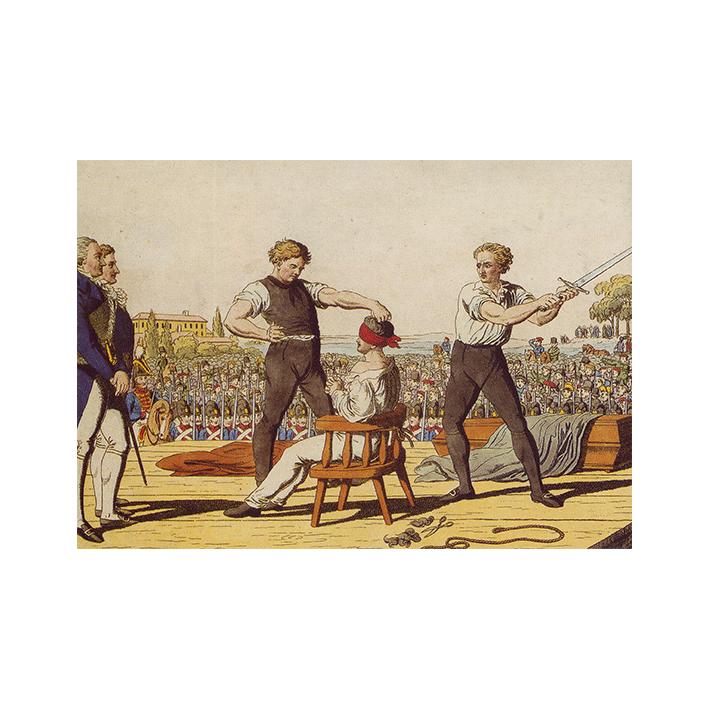 Karl Ludwig Sand wird hingerichtet Mannheim 1820