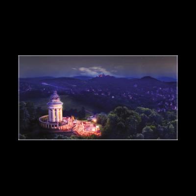Burschenschaftsdenkmal bei Nacht (Maxi Postkarte im 10er Pack)