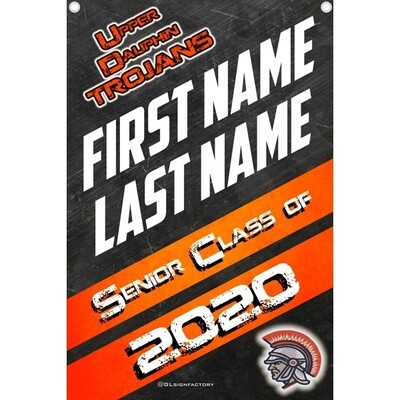 Upper Dauphin Senior 2020 Customized Banner