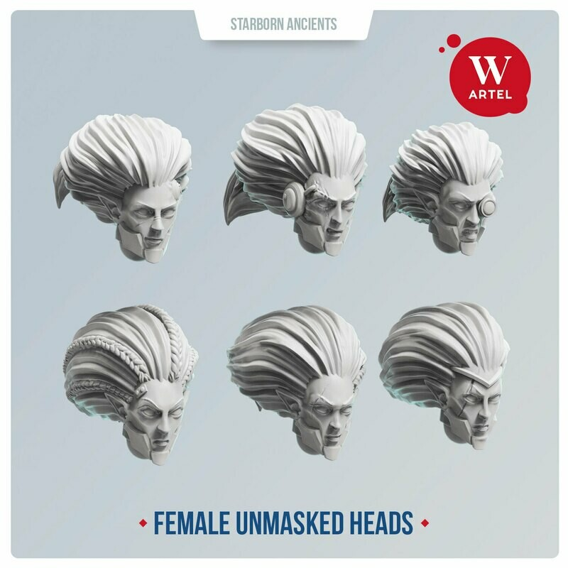 Starborn Ancients Female Unmasked Heads
