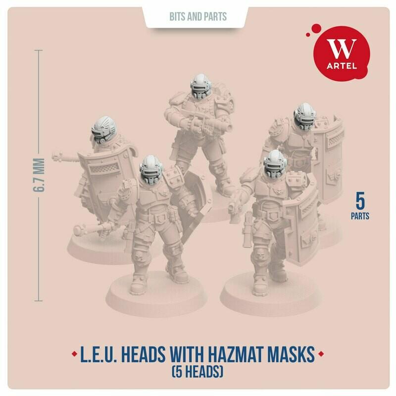 Helmeted Heads with Hazmat Masks
