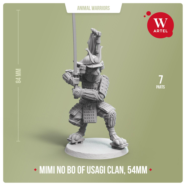 Mimi no Bo, warrior of Usagi Clan - 54mm scale