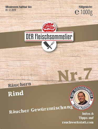 """Räucher- Gewürzmischung Nr. 7 """"Rinderschinken"""""""