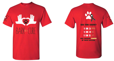 Bark For A Cure Red Shirt
