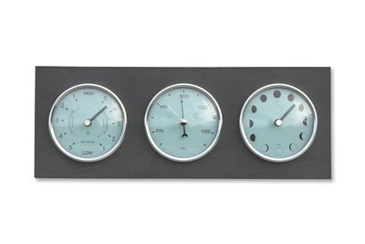 Moon, Tide Clock & Barometer - Horizontal