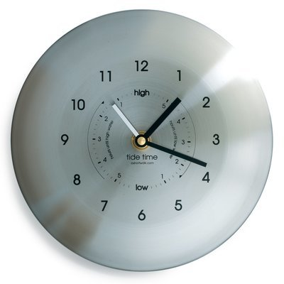 Time and tide clock stainless steel