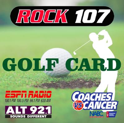 Rock 107 Golf Card