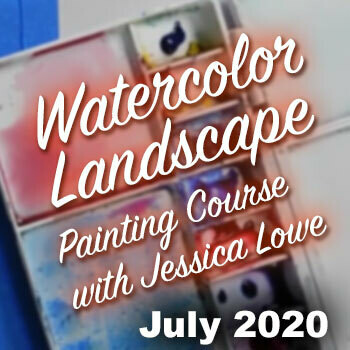 Online Watercolor Landscape Painting Course - JULY 2020