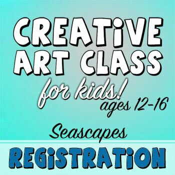 CREATIVE ART CLASS FOR KIDS! - Seascapes