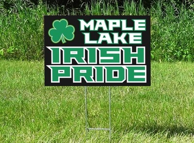Maple Lake Irish Pride Yard Sign