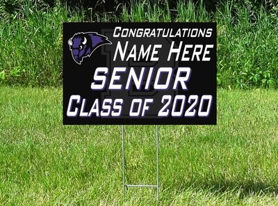 Buffalo Bison Senior Class Of 2020 Yard Sign - PERSONALIZED