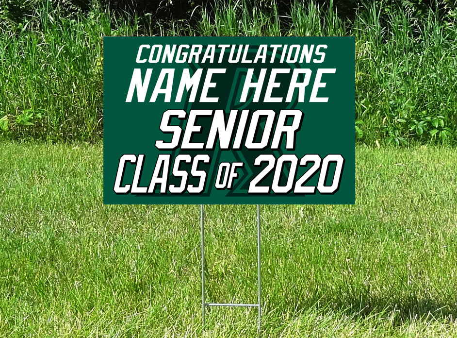 Rockford Rockets Senior Class Of 2020 Yard Sign - PERSONALIZED