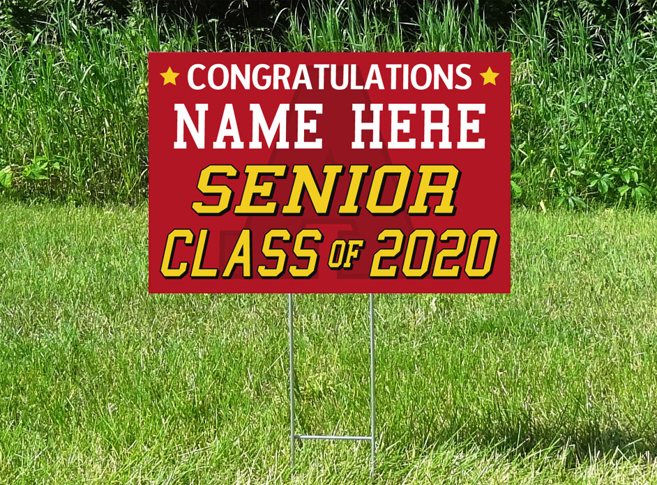 Annandale Cardinals Senior Class Of 2020 Yard Sign - PERSONALIZED