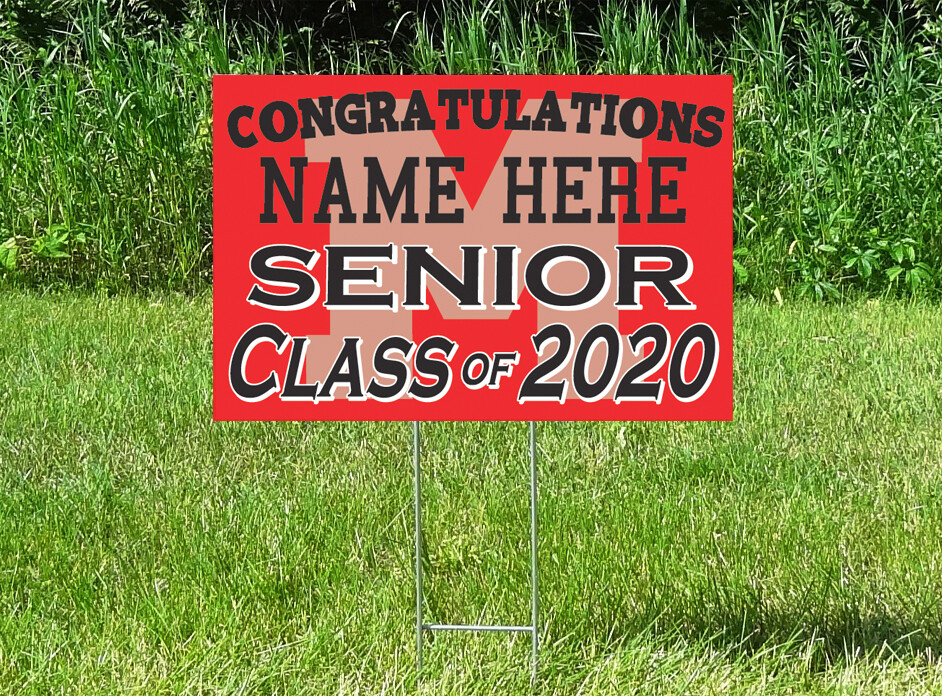 Monticello Magic Senior Class Of 2020 Yard Sign - PERSONALIZED