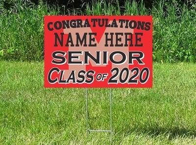 Monticello Magic Senior Class Of 2020 Yard Sign - PERSONALIZED