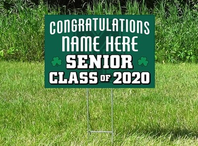 Maple Lake Irish Senior Class Of 2020 Yard Sign - PERSONALIZED