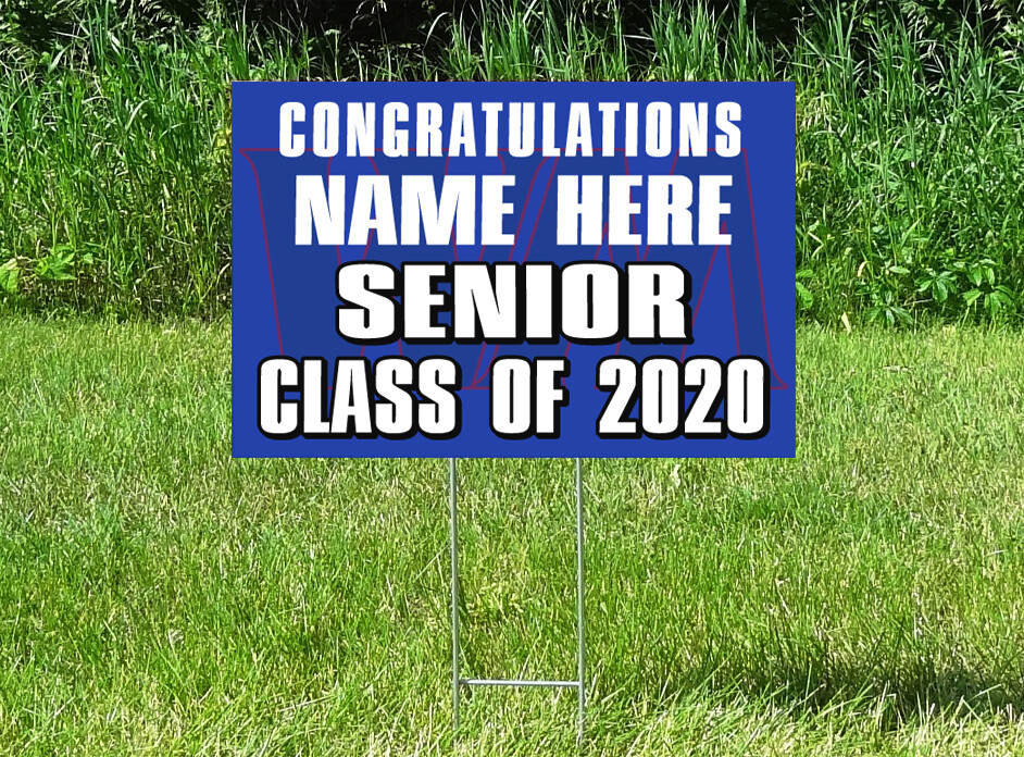 Watertown Mayer Senior Class Of 2020 Yard Sign - PERSONALIZED