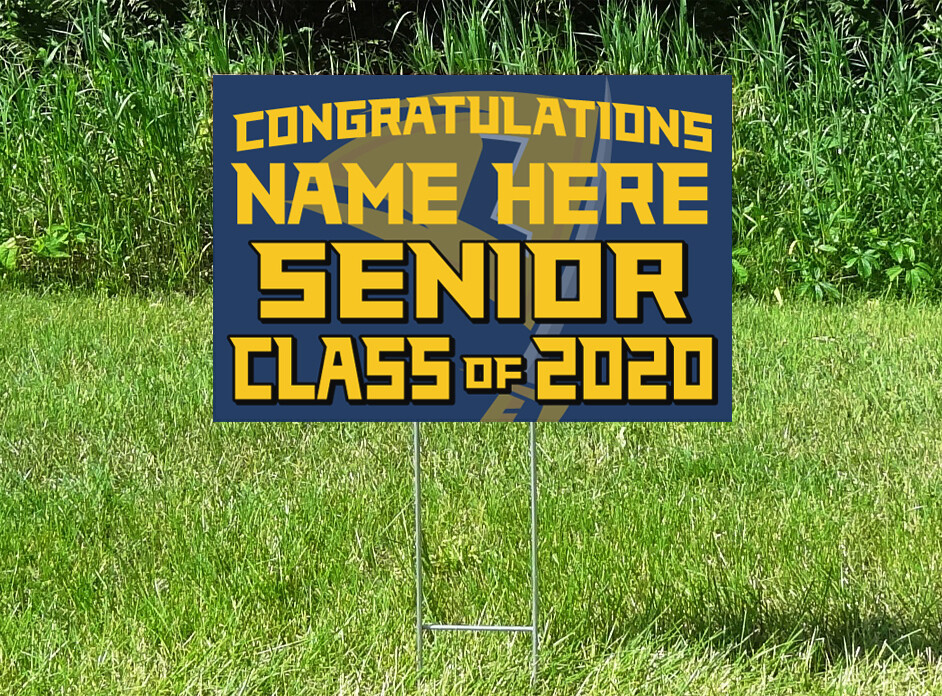 HLWW Lakers Senior Class Of 2020 Yard Sign - PERSONALIZED
