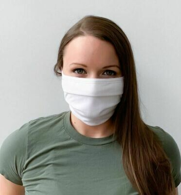 Adult & Youth Reuseable / Washable White OR Black Cloth Face Mask