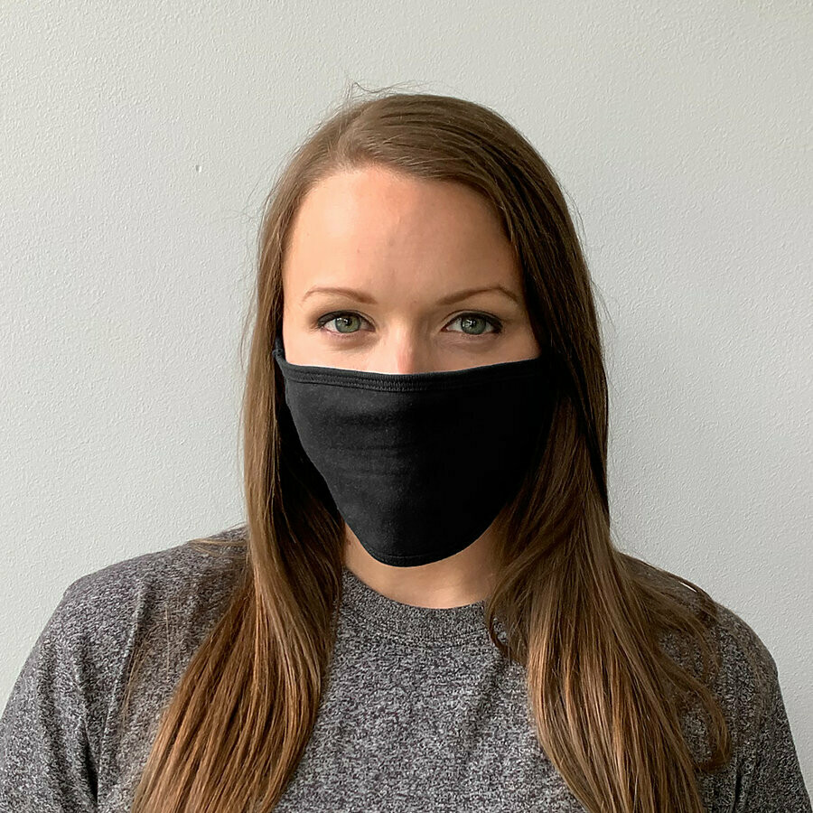 LOGO YOUR MASK!  Adult & Youth Reuseable / Washable White OR Black Cloth Face Covering