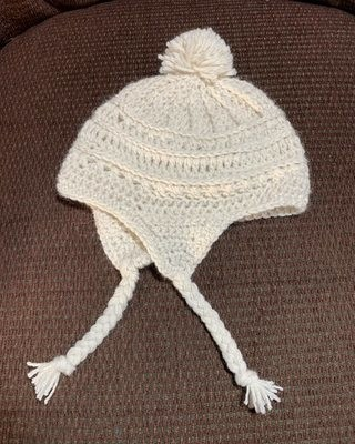 Alpaca Hat with Ear Flaps - 6-12 Months