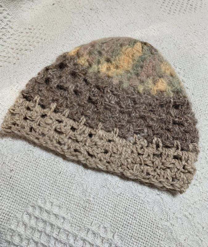 Neutral Colored Baby Alpaca Hat - 3-6 Months
