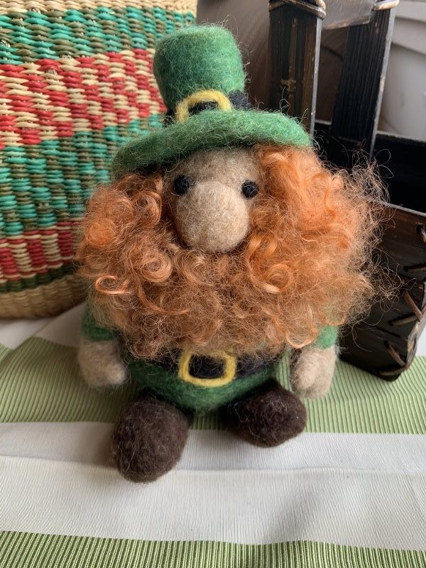 Needle Felted Irish Leprechaun