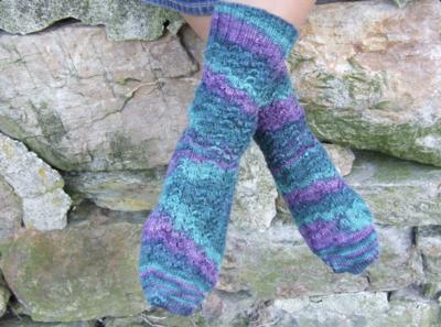 Purl Lace Socks Pattern