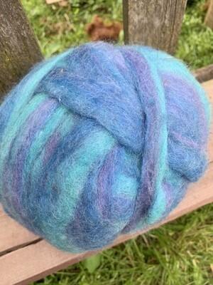 Alpaca Wool Roving - Ebb and Flow