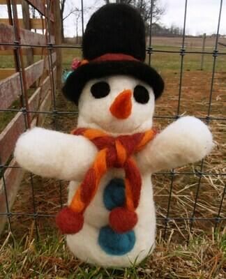 Snowman Felting Class