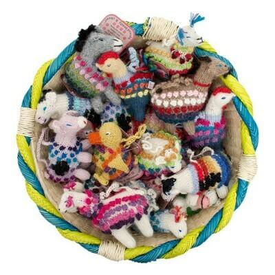 Farm Animal Alpaca Knitted Ornaments