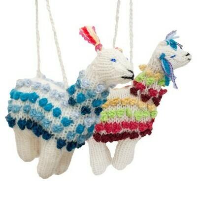 Alpaca Knit Farm Ornaments
