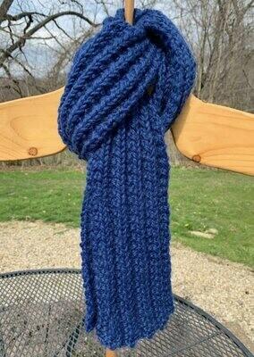 Chunky Hand Knit Alpaca Wool Scarf