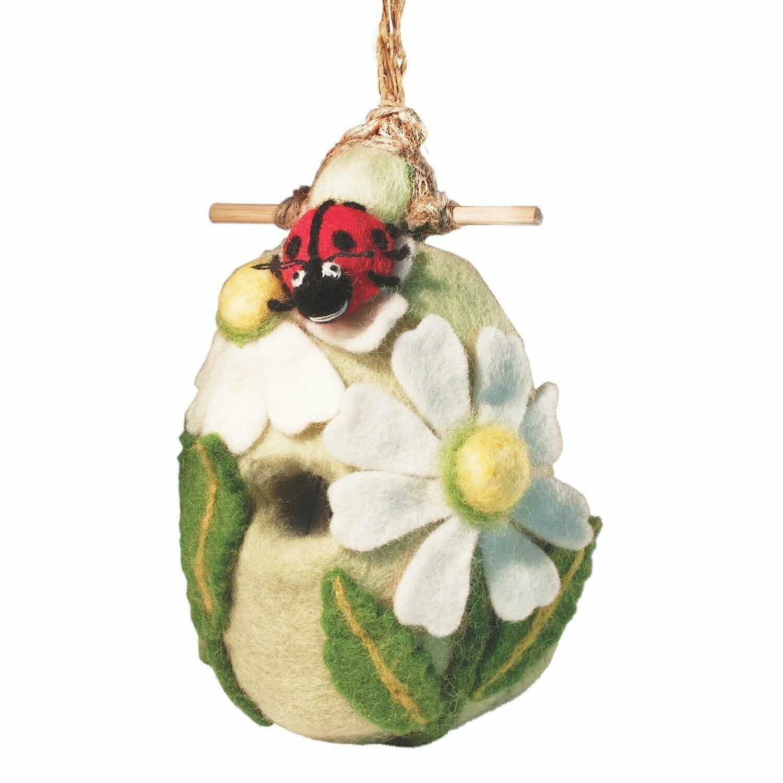 Felt Birdhouse - Lady Bug