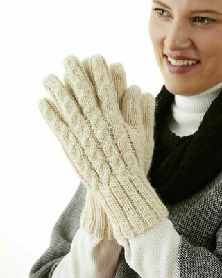 Trenza Cable Alpaca Gloves