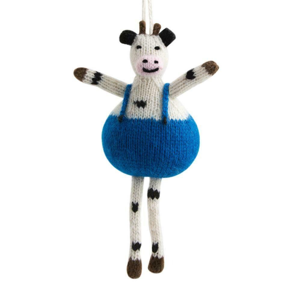 Alpaca Cow Ornament