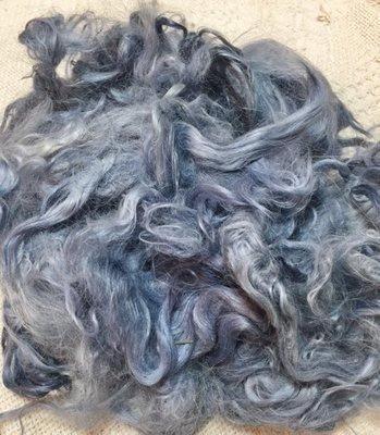 Hand-Dyed Suri Alpaca Fiber, 5.5 IInches, Sugargum