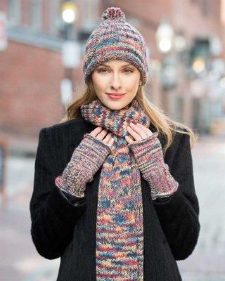 Chunky Pallet Hand Knit Alpaca Gauntlets