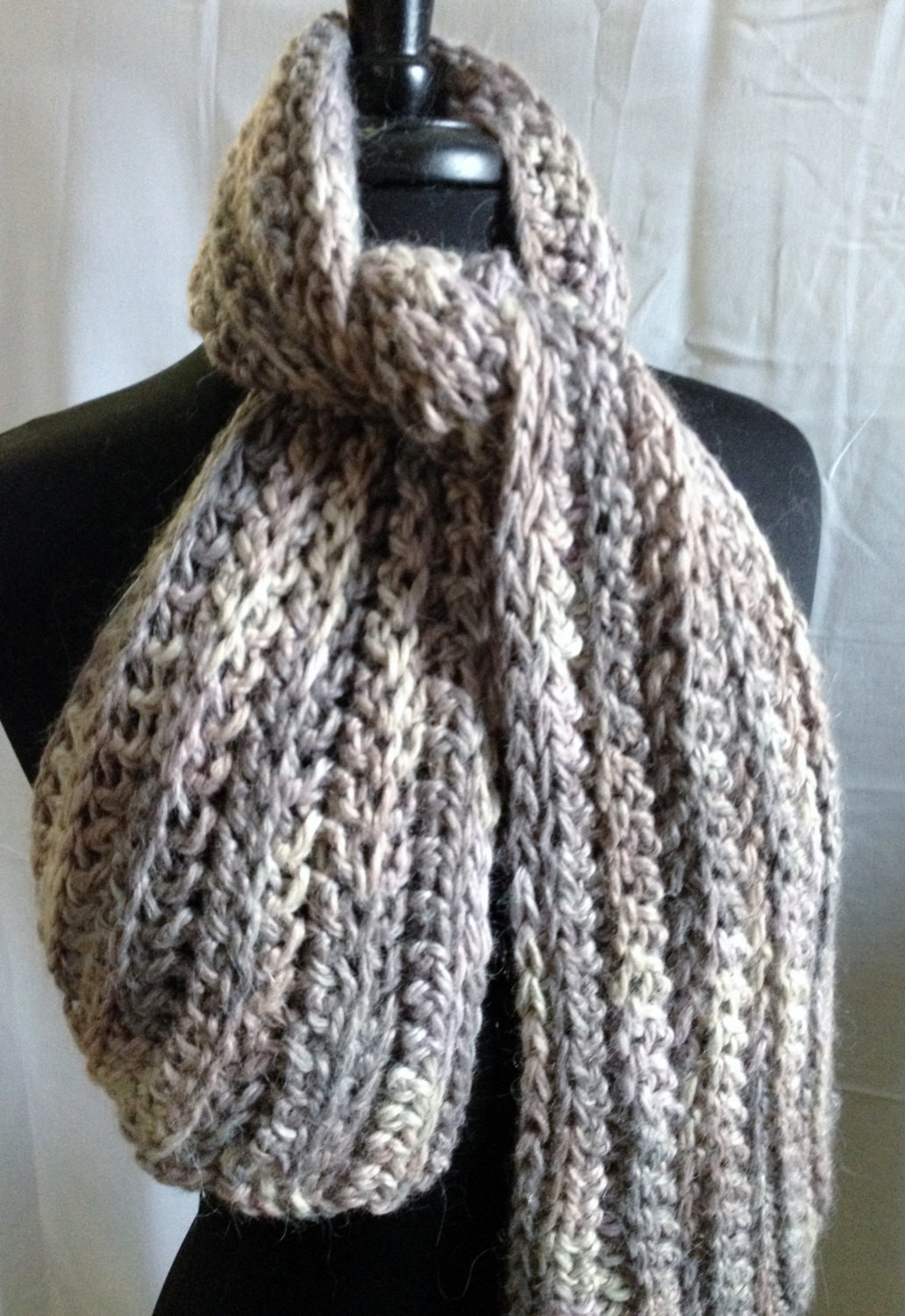 Bulky Ribbed Crochet Scarf - Made to Order