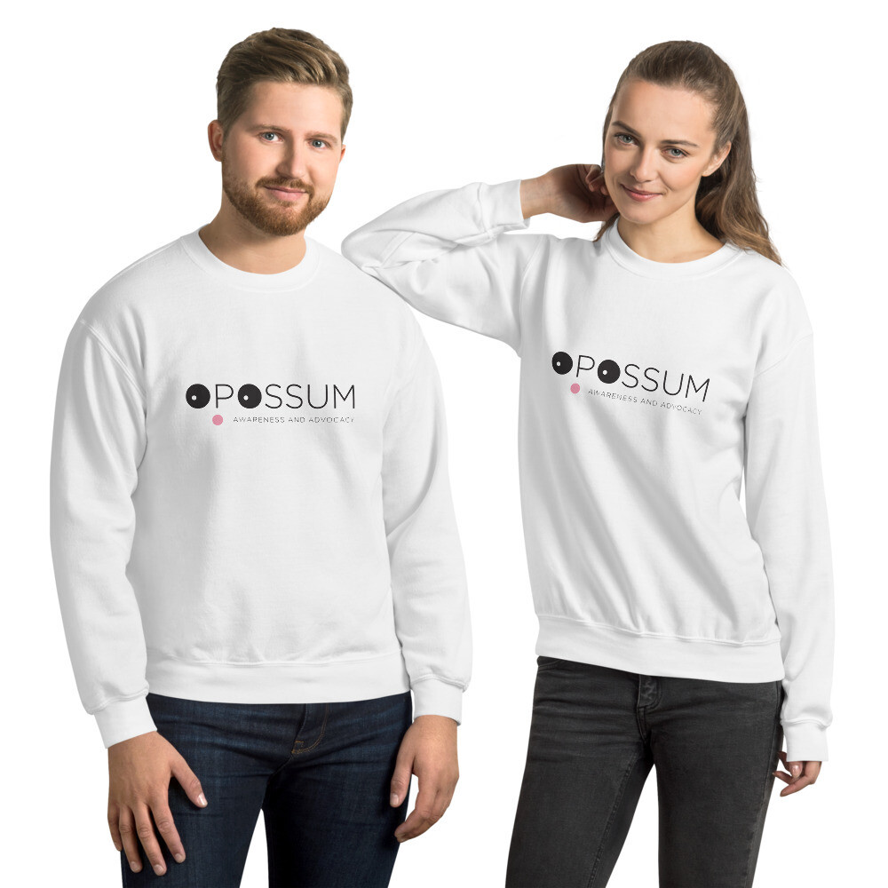 Opossum Sweatshirt - Modern Logo - Unisex (Multiple Colors)