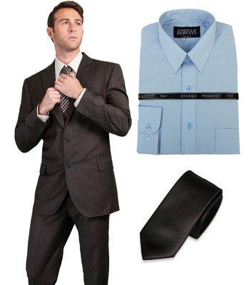 Paquete Traje  3 prendas (Camisa Angelo Perucci)