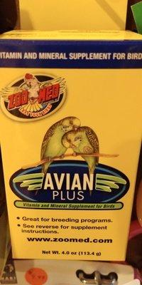 AVIAN PLUS Vitamin, Mineral Supplement 4 OZS.